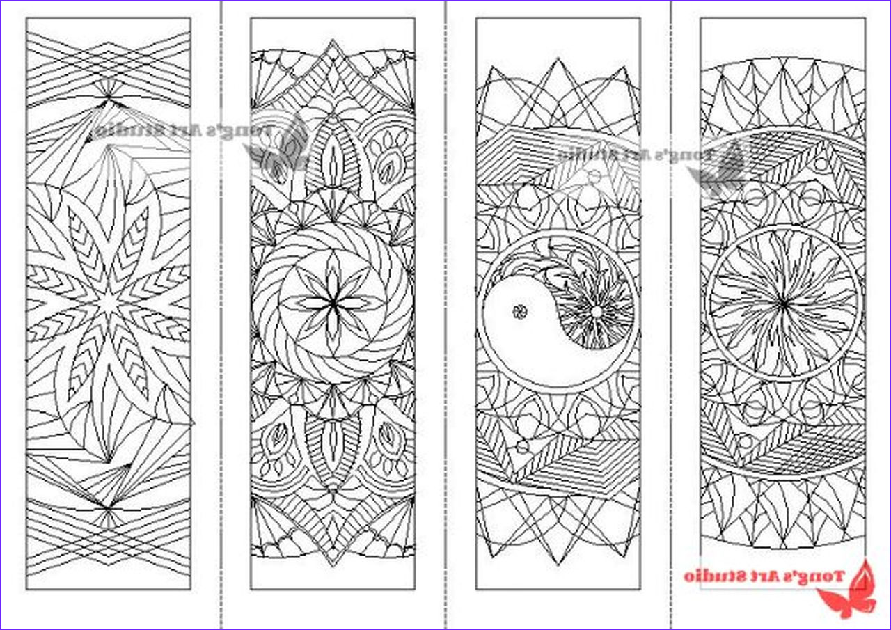 Free Coloring Bookmarks Awesome Gallery 4 Printable Mandala Coloring Bookmarks 1 tong S Art Studio