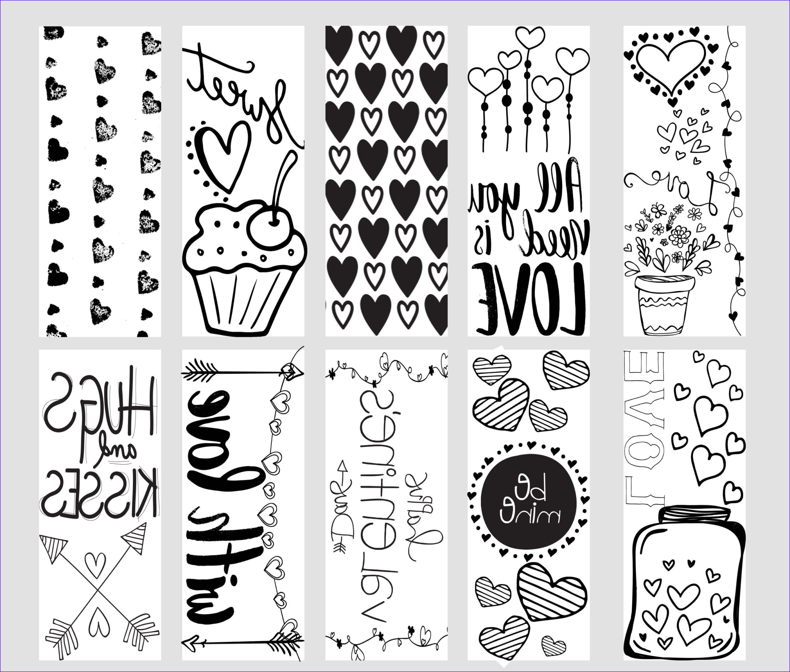 Free Coloring Bookmarks Awesome Photos Valentine Printable Coloring Page Bookmarks Kleinworth & Co