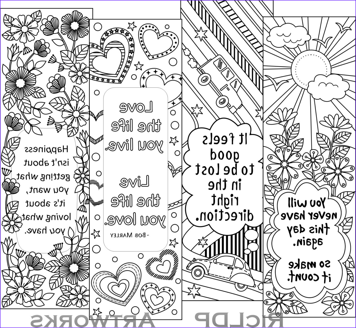 Free Coloring Bookmarks Inspirational Photography Printable Colouring Bookmarks with Quotes Coloring Bookmark