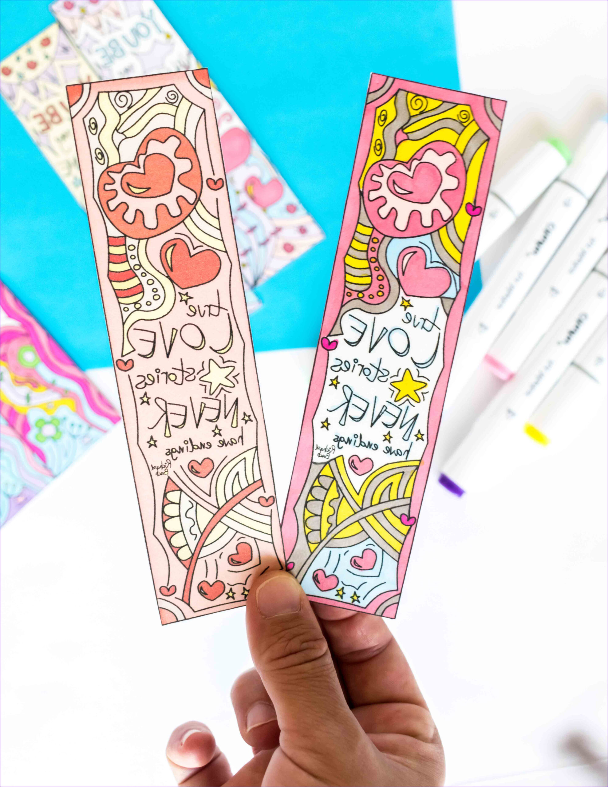 Free Coloring Bookmarks New Images Coloring Valentine's Day Bookmarks Free Printable