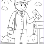 Free Coloring Books By Mail Beautiful Stock Mail Carrier Coloring Page