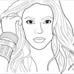 Free Coloring Page Com Awesome Images Shakira Coloring Pages
