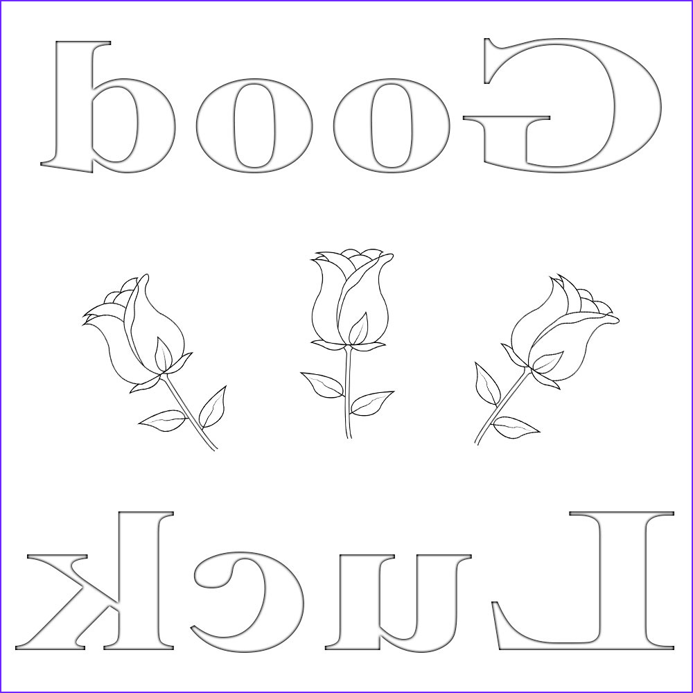good luck coloring pages printable
