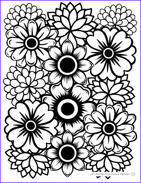 free printable adult coloring pages just flowers