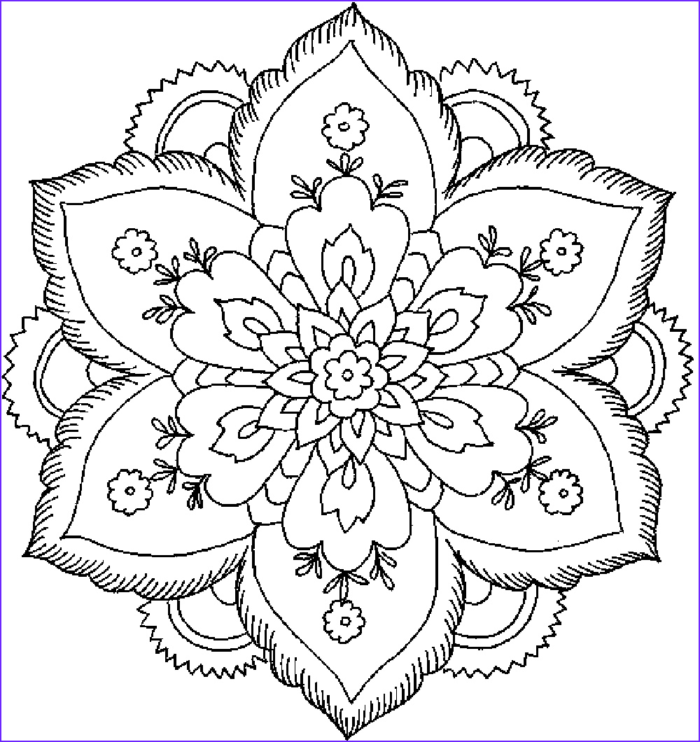 Free Coloring Pages for Adults Flowers Elegant Image Abstract Coloring Pages for Adults Printable Kids