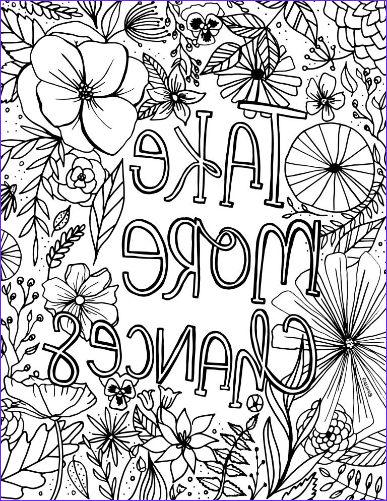 free encouragement flower coloring page printable