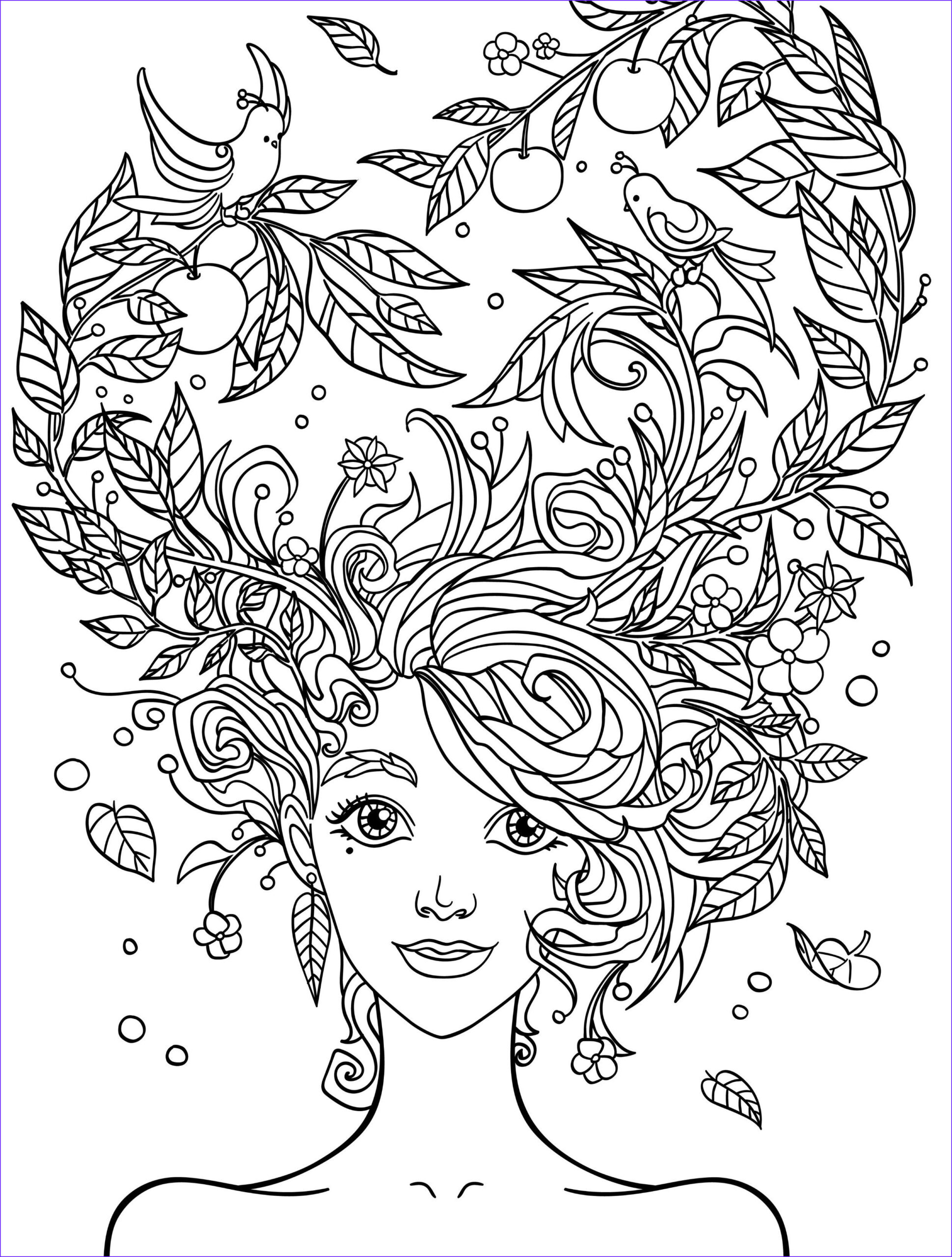 Free Coloring Pages for Adults Printable Elegant Gallery 10 Crazy Hair Adult Coloring Pages