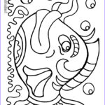 Free Coloring Pages For Preschoolers Inspirational Photos Free Fish Coloring Pages For Kids
