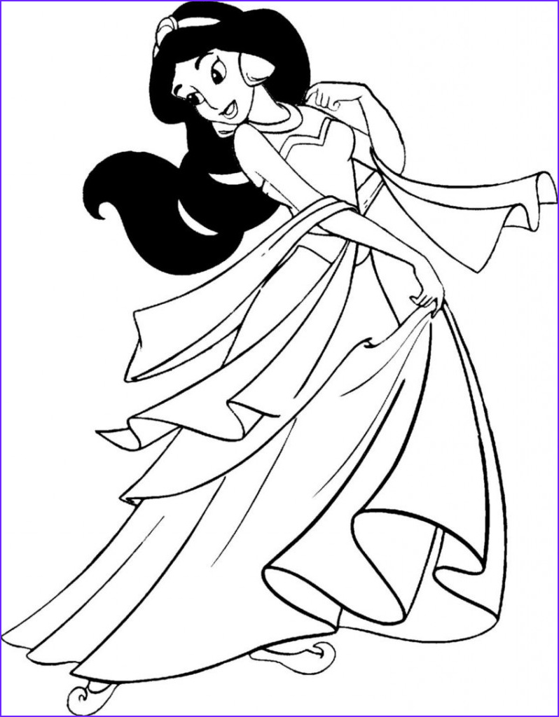 Free Coloring Pictures.com Luxury Photos Free Printable Jasmine Coloring Pages for Kids Best
