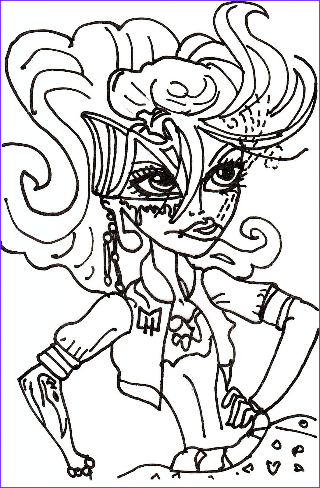 Free Coloring Worksheets Cool Collection Free Printable Monster High Coloring Pages May 2013