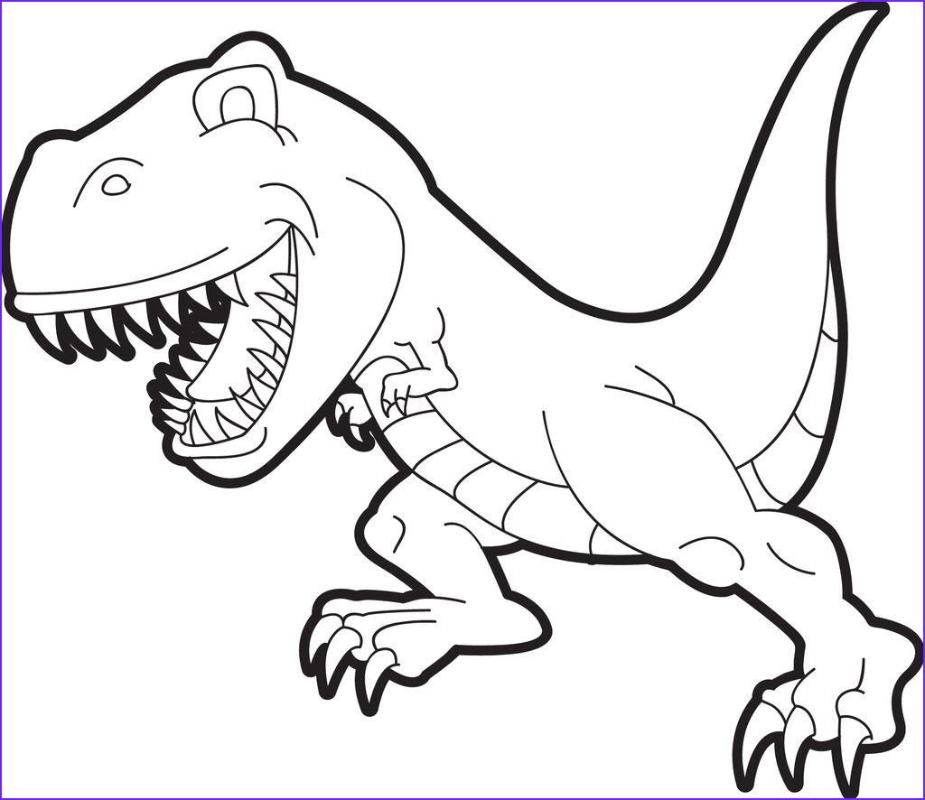 Free Dinosaur Coloring Pages Beautiful Photos Free Printable T Rex Dinosaur Coloring Page for Kids