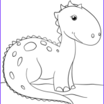 Free Dinosaur Coloring Pages Best Of Gallery Cute Cartoon Dinosaur Coloring Page