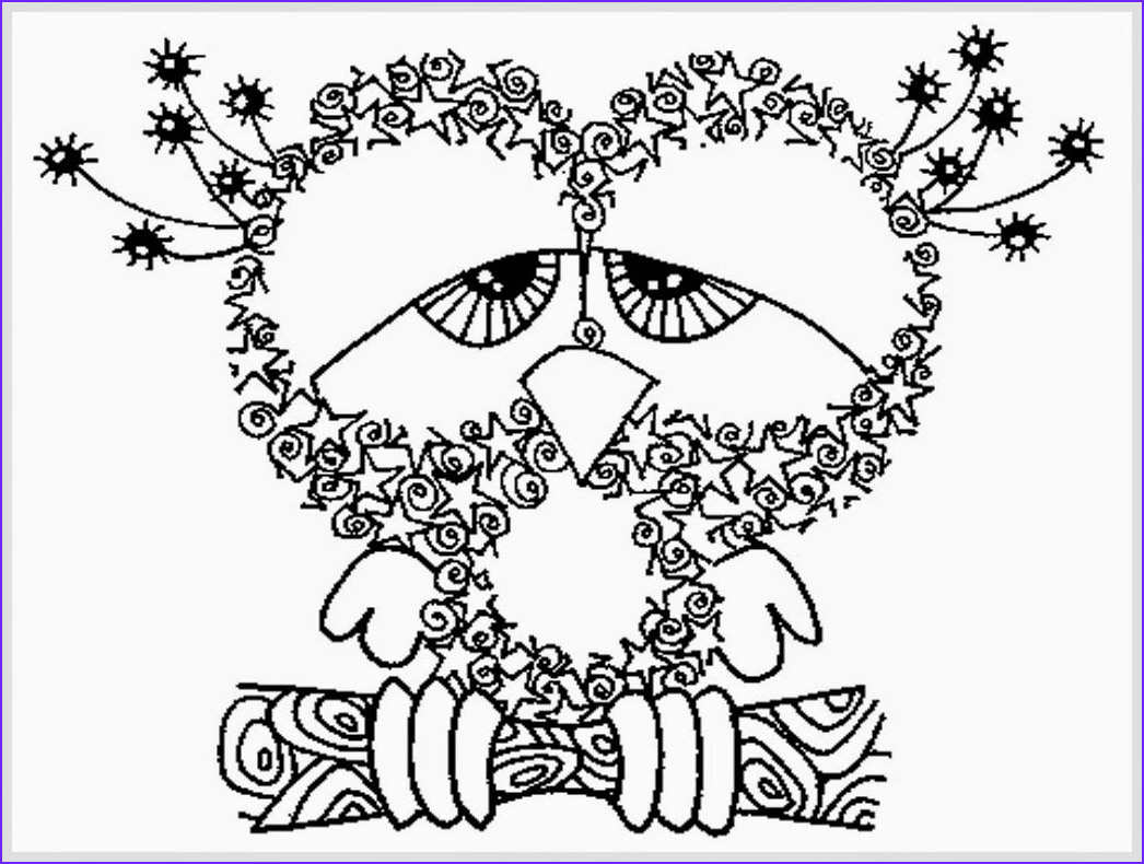 Free Downloadable Adult Coloring Pages Beautiful Images Owl Coloring Pages for Adults