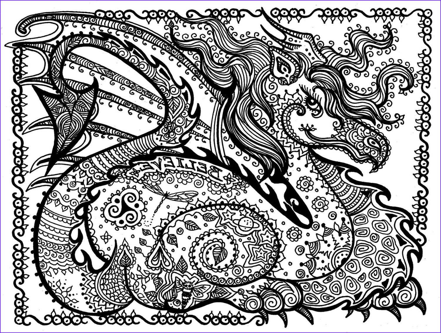 Free Dragon Coloring Pages Beautiful Gallery Printable Coloring Page Dragon Instant Download Pay and Color
