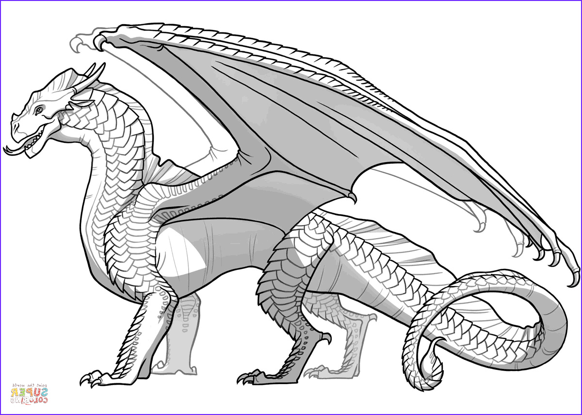 Free Dragon Coloring Pages Beautiful Image Wings Of Fire Sandwing Dragon Coloring Page