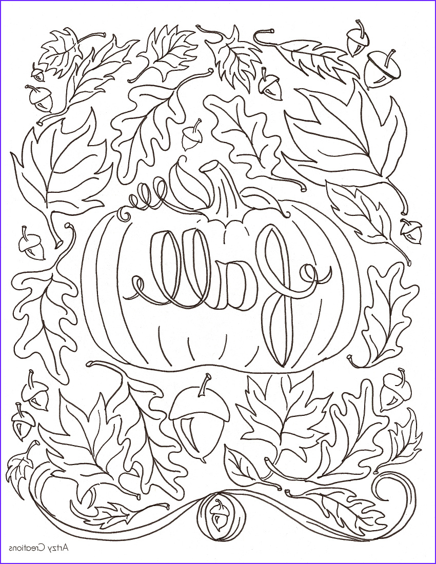 Free Fall Coloring Pages Cool Gallery Free Fall Coloring Page Artzycreations