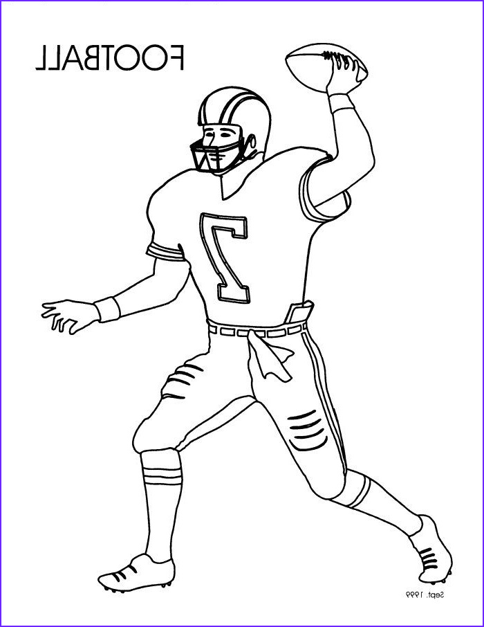 Free Football Coloring Pages Beautiful Collection Coloring Pages Football Player