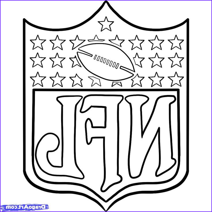 Free Football Coloring Pages Beautiful Collection Nfl Logos Coloring Pages Book Printable