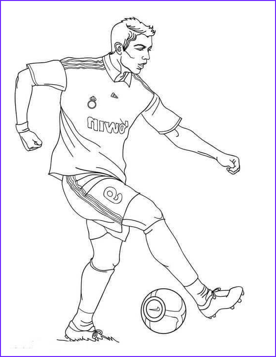 Free Football Coloring Pages Luxury Images Cristiano Ronaldo Fifa World Cup Coloring Page
