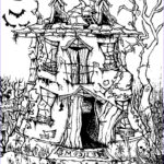 Free Halloween Coloring Pages For Adults Beautiful Image Halloween Haunted House Halloween Adult Coloring Pages