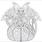 Free Halloween Coloring Pages For Adults Beautiful Image Halloween Zentangle Bat Halloween Adult Coloring Pages