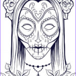 Free Halloween Coloring Pages For Adults Inspirational Image Sugar Skull Coloring Page 9 Coloring
