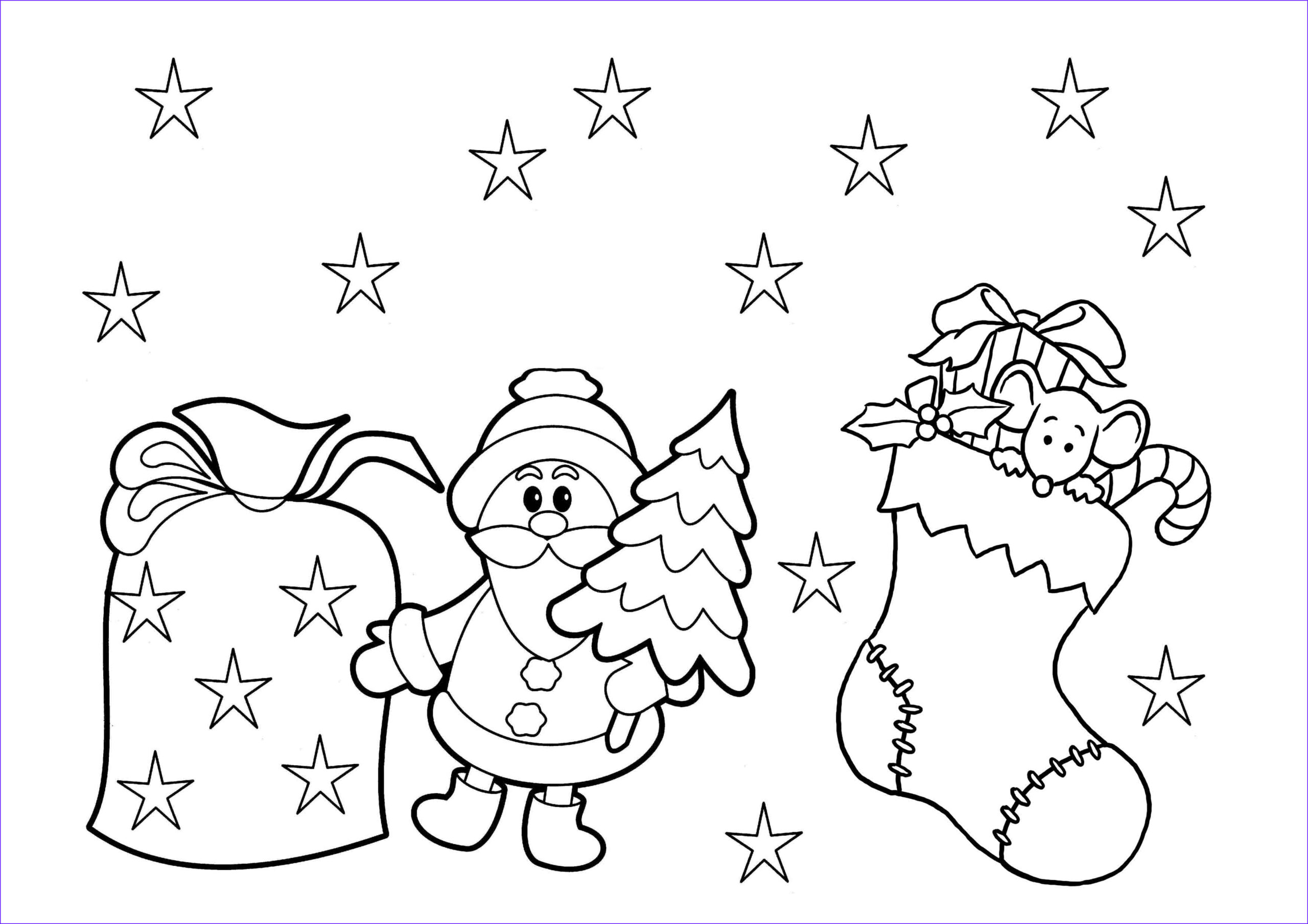 printable christmas coloring pages kids