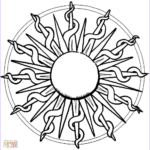 Free Mandala Coloring Pages For Adults New Stock Mandala With Sun Coloring Page
