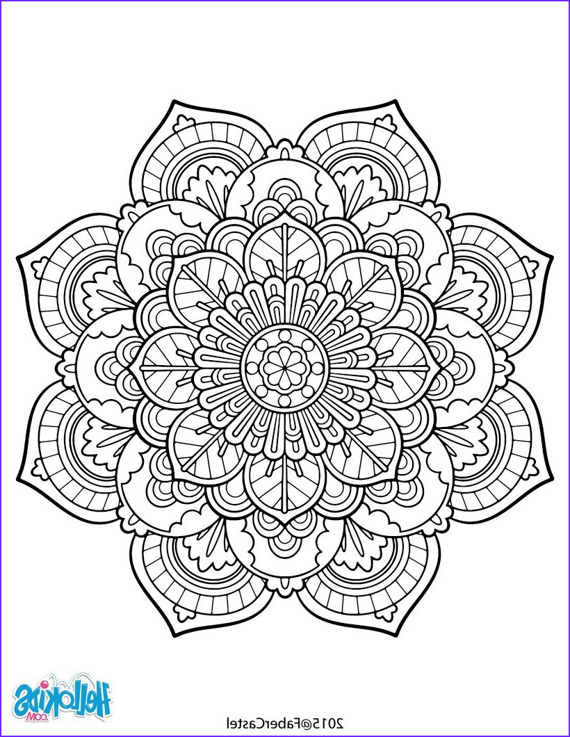 Free Mandala Coloring Pages for Adults Unique Gallery Mandala Vintage Coloring Pages Hellokids