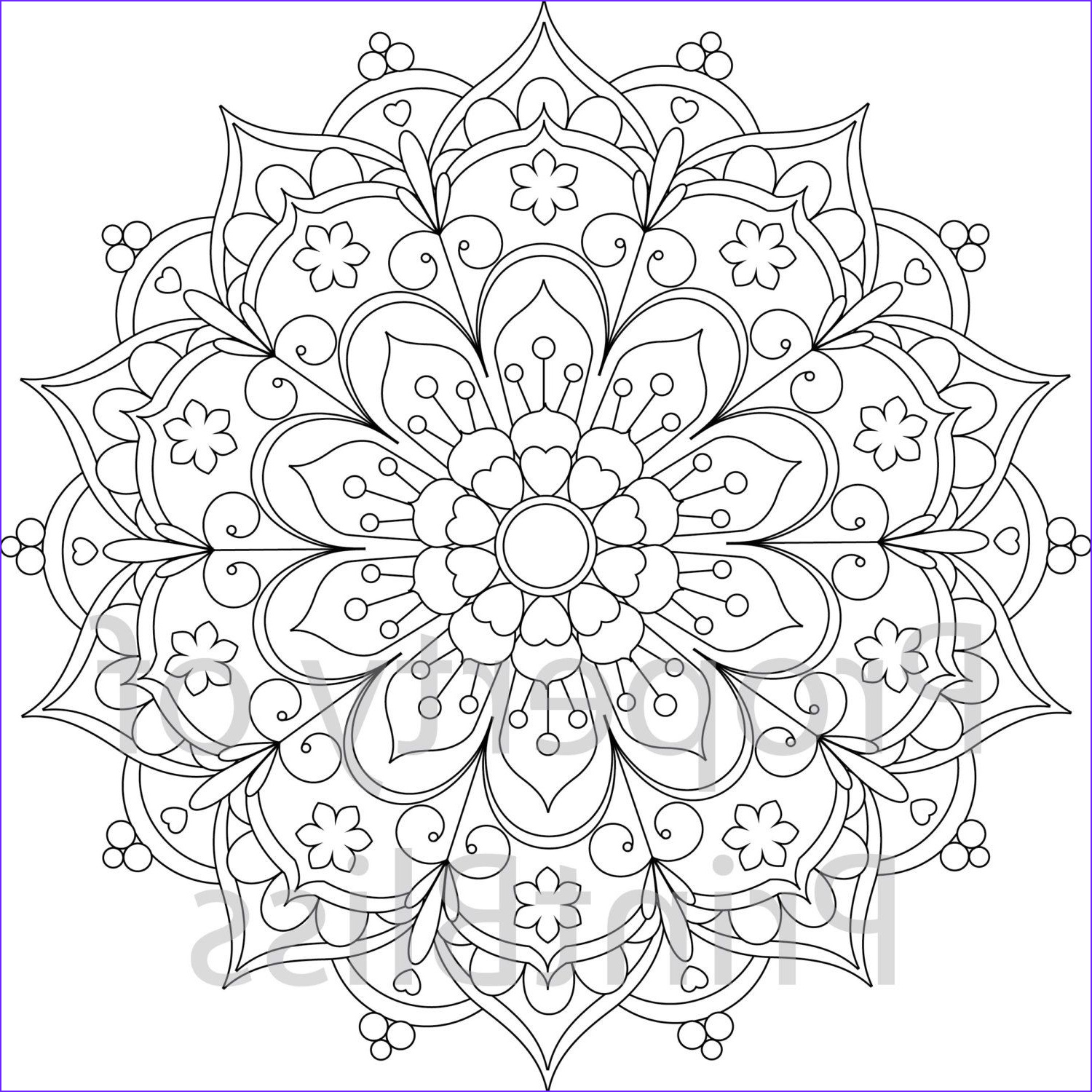 Free Mandala Coloring Pages Pdf Elegant Photography 25 Flower Mandala Printable Coloring Page by Printbliss