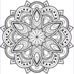 Free Mandala Coloring Pages To Print Cool Stock Flower Mandala Coloring Page