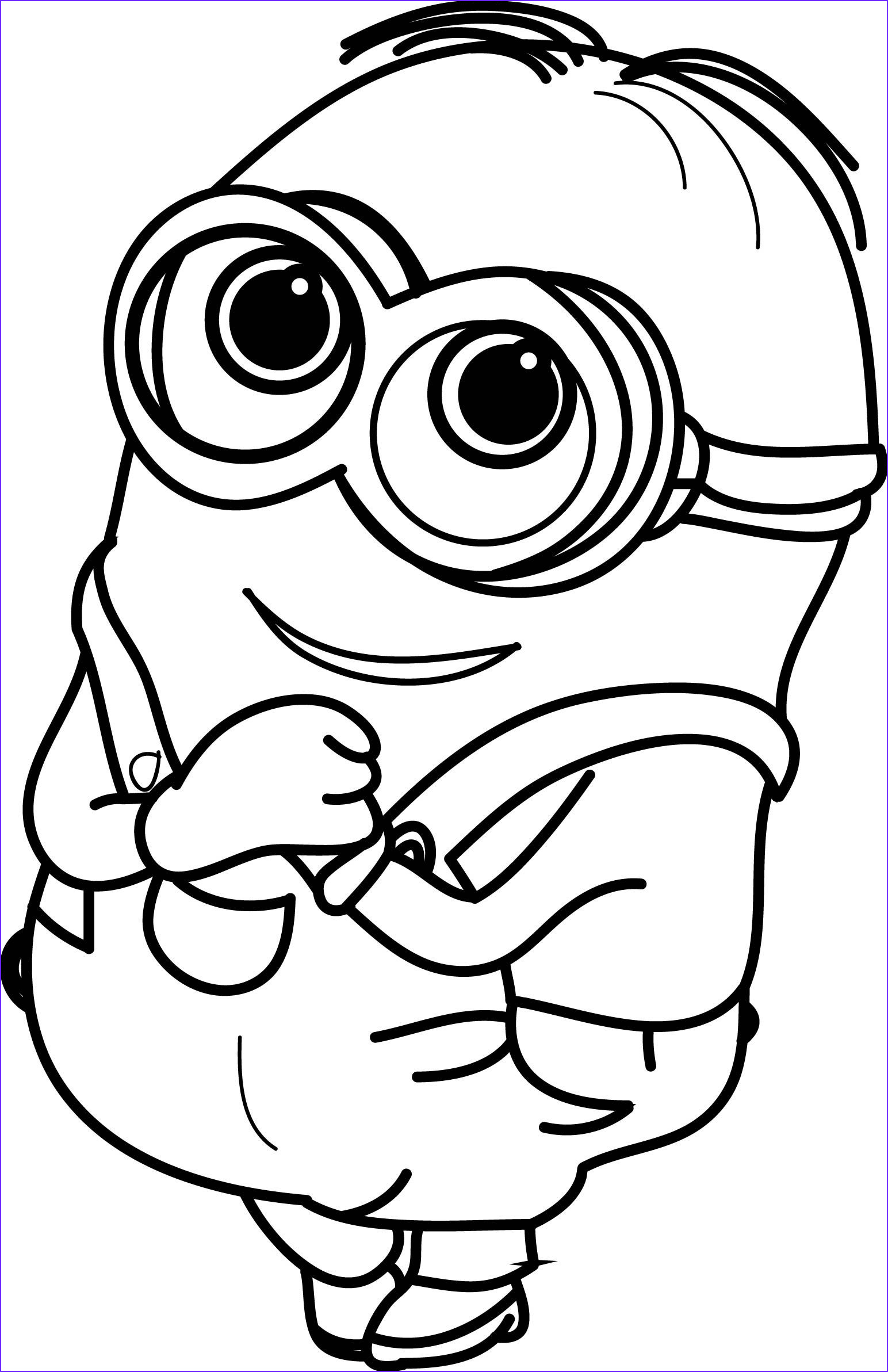 Free Minion Coloring Pages Inspirational Stock Minion Very Cute Coloring Page Minions
