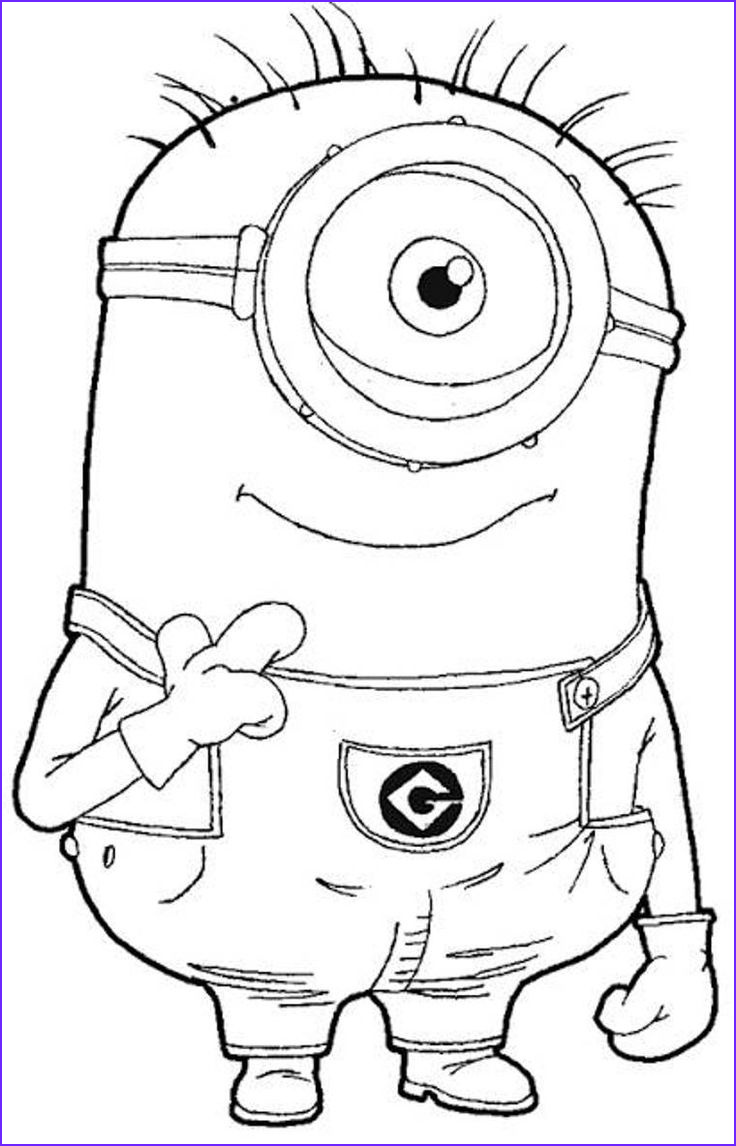 Free Minion Coloring Pages New Image Download and Print E Eye Minion Despicable Me Coloring