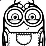 Free Minion Coloring Pages New Photography Cute Bob And Bear Minions Coloring Page