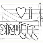 Free Music Coloring Pages Elegant Photography Music Notes Line Drawing At Getdrawings