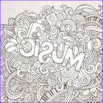 Free Music Coloring Pages Unique Collection Music Black And White Doodle