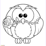 Free Owl Coloring Pages Unique Collection Owl with Rose Coloring Page