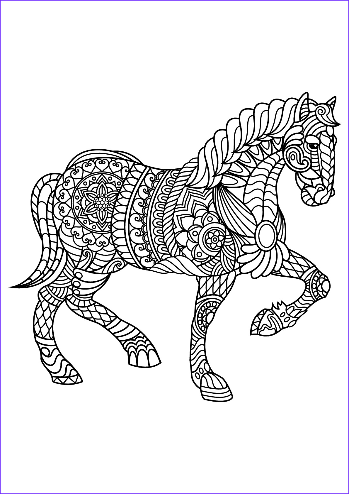 Free Printable Adult Coloring Pages Awesome Image Free Book Horse Horses Adult Coloring Pages