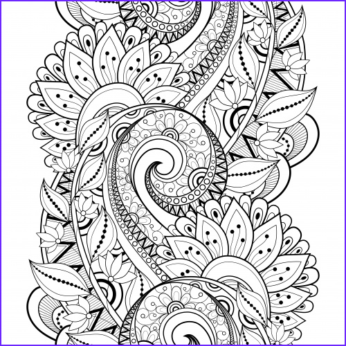 advanced flower coloring pages 3