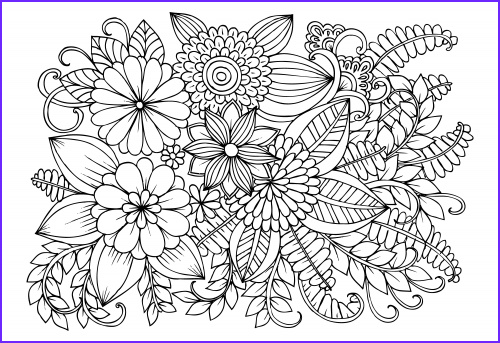 advanced flower coloring pages 11