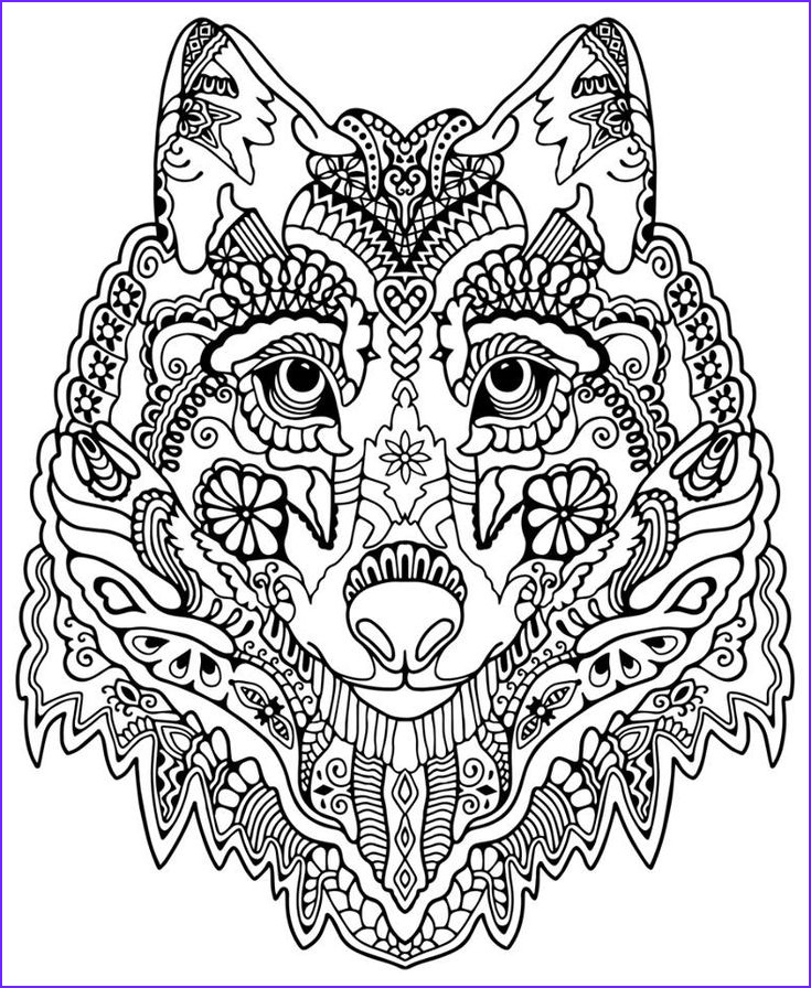 Free Printable Advanced Coloring Pages New Stock Wolf Abstract Doodle Zentangle Coloring Pages Colouring