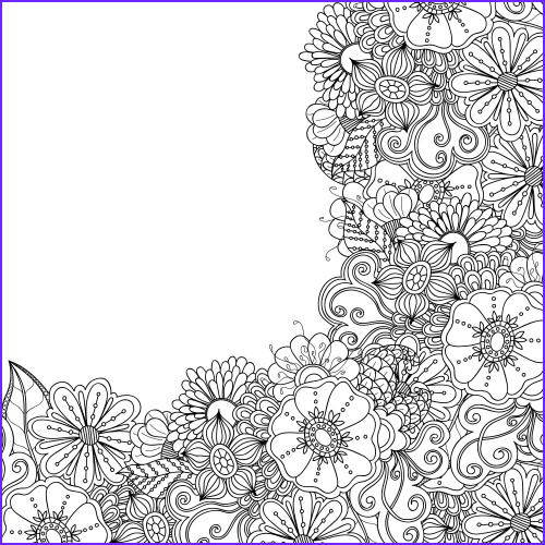 advanced flower coloring pages 7