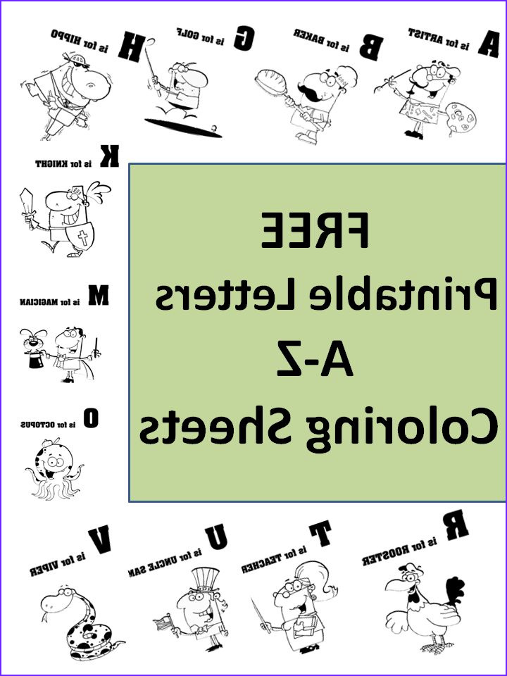 Free Printable Alphabet Coloring Pages Cool Stock Free Printable Letters A to Z Unique Coloring Sheets