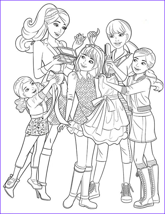Free Printable Barbie Coloring Pages Beautiful Photography Barbie & Her Little Sisters Coloring Page