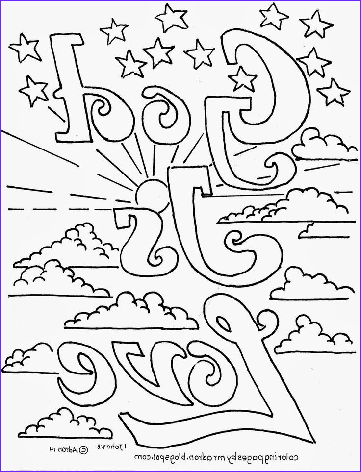 Free Printable Bible Coloring Pages Luxury Photos Coloring Pages for Kids by Mr Adron God is Love