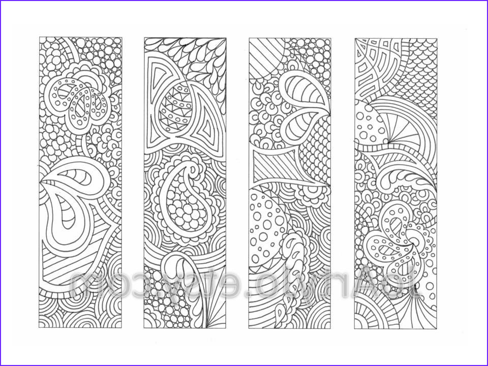 Free Printable Coloring Bookmarks Awesome Image Printable Bookmarks Coloring Page Zendoodle Zentangle