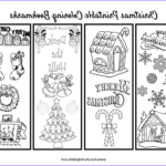 Free Printable Coloring Bookmarks Awesome Stock Free Christmas Bookmarks To Color