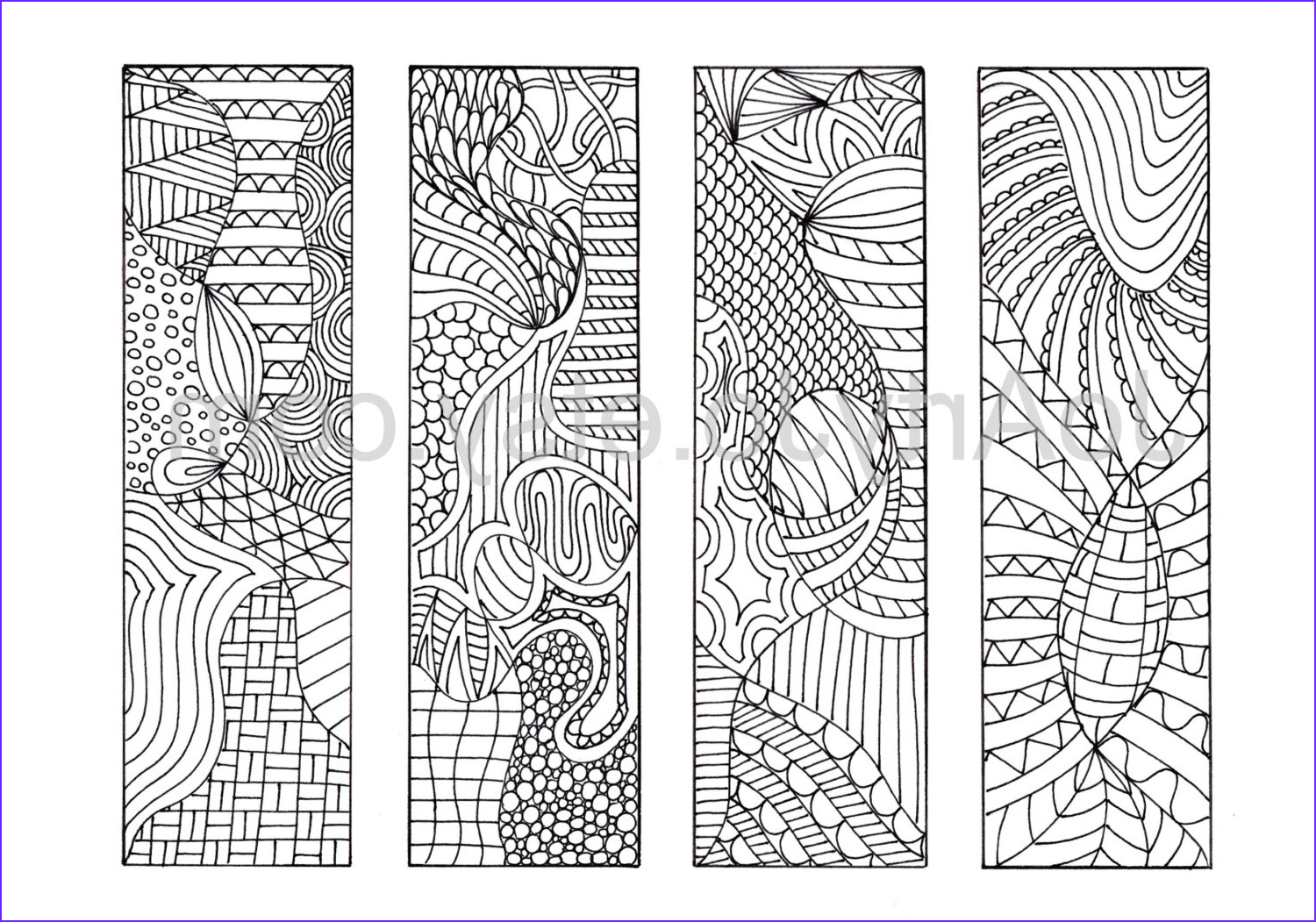 coloring bookmarks to print 12 zentangle