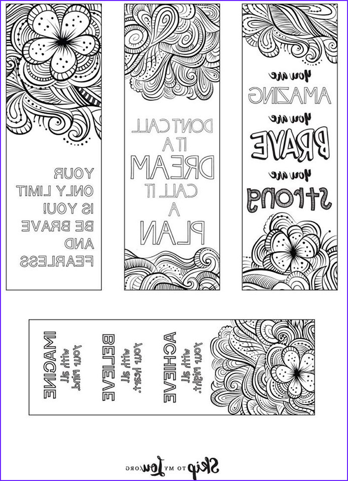 Free Printable Coloring Bookmarks Cool Photos Free Printable Coloring Bookmarks for Back to School