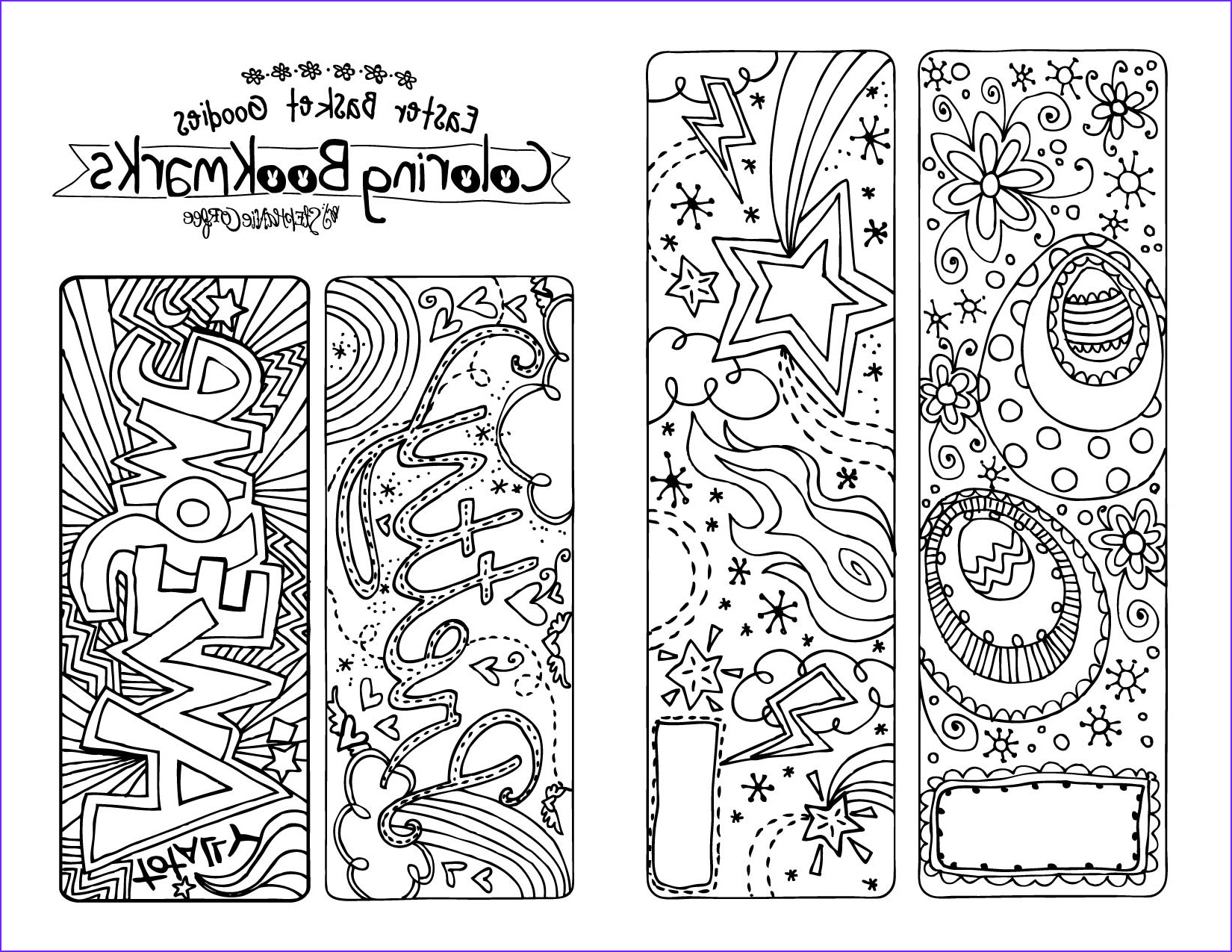 Free Printable Coloring Bookmarks Elegant Photos A Printable to Color This Easter